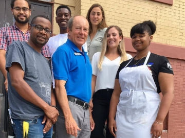 Great conversations with summer interns at the Mustard Seed - August 9, 2017
