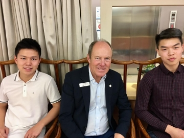 Great to meet Alex Lui and Samuel Tarp who were hired through the Canada Summer Job Grants program to work at the Edmonton Chinatown Care Centre - July 4, 2018