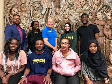 Great to meet up with students at the Africa Centre involved in putting on a summer camp - August 15, 2018