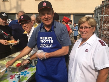 It was a real pleasure to help serve at the Salvation Army Client BBQ - July 26 2018.