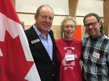 Northgate Baptist Church ESL Graduate program - Kerry Diotte with Pastor Bob Carroll and volunteer Jennie Ruim