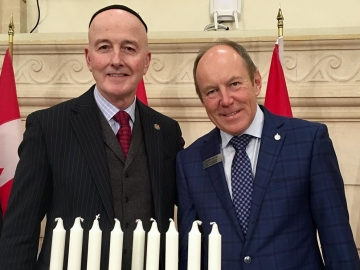 Lighting of the Menorah event on Parliament Hill - Dec. 14, 2017
