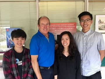 Meeting Cynthia Li, Michael Tsang and Yu Shan (Krystal) Liu  interning this summer at the Chinese Benevolent Association - July 23, 2018