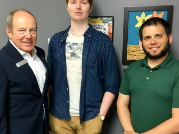 Meeting Lucas and Colin at The Canora Society. Colin has been hired through the Canada Summer Job Grants program - July 9, 2018
