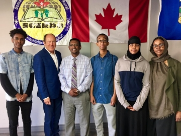 Meeting Somali Canadian Education Executive Director Bashir Ahmed and Canada Summer Grants program interns - July, 12 2018