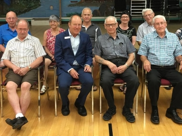 Meeting all the  July birthdays today at North West Edmonton Seniors Activities Centre - July 6, 2018