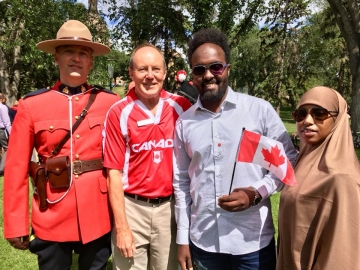 Meeting new Canadians Citizenship ceremony at the Alberta Legislature - July 1, 2018