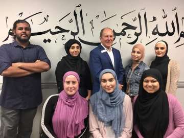 Meeting some of the students hired through the Canada Summer Jobs Grants program at Al Rashid Mosque-Canadian Islamic Centre. July 10, 2018