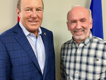 Meeting with Pastor Ray Baillie about the Canada Summer Jobs Program - Jan 8, 2018