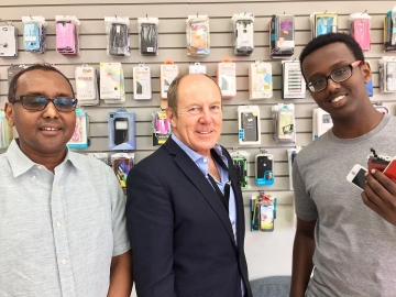 Popped into the Gadget Care Centre  that hired Hidig Kassim this year with help from the  Canada  Summer Job Grants program - July 13, 2018
