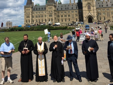 Prayer for Peace event on Parliament Hill to mark Ukrainian Day