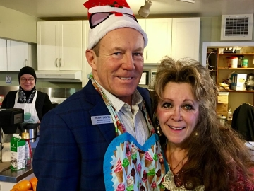 Serving breakfast at Dickinsfield Amity House - Dec 20, 2017