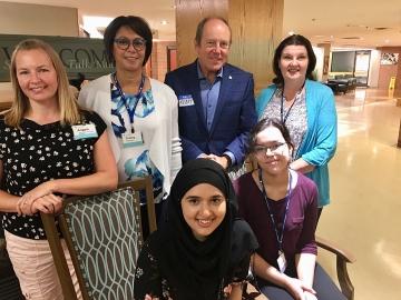 Touruing the impressive CapitalCare Dickinsfield long-term care facility - August 1, 2018