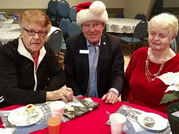 Visiting the St Josaphat's Senior Citizens Residence during Christmas dinner - Dec 19 2017