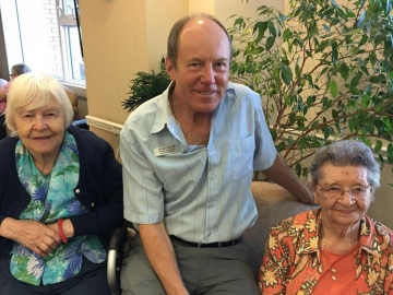 Visiting with residents, staff and volunteers at Rosslyn Place - May 23, 2017