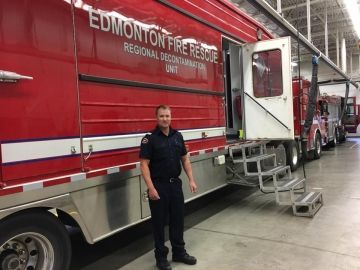 Visting Edmonton Fire Stations - May 24, 2017