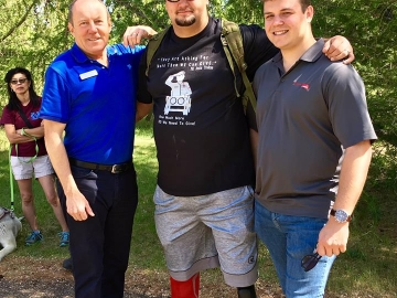 With veteran Brock Blaszczyk, at the Canadian Walk for Veterans at Rundle Park.  - June 3, 2018