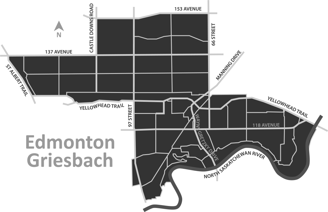 Edmonton Griesbach Riding Map