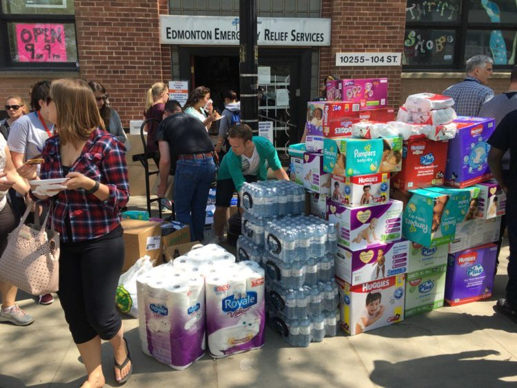 Donations at Edmonton Emergency Relief Services